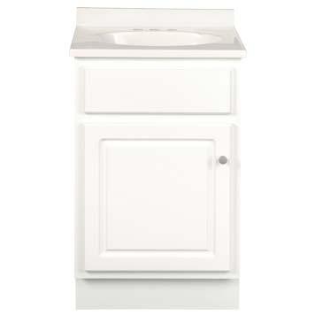 16 Inch Deep Vanity - Glossy White