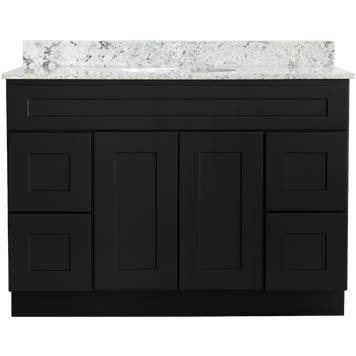 Bathroom Vanity - Shaker Black