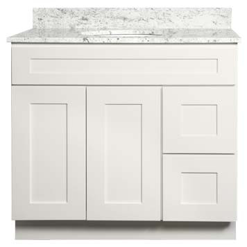 Bathroom Vanity - Shaker White