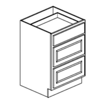 Vanity Drawer Stack - Shaker Gray