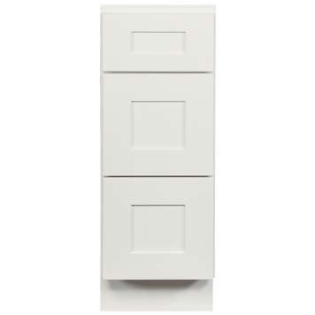 Vanity Drawer Stack - Shaker White