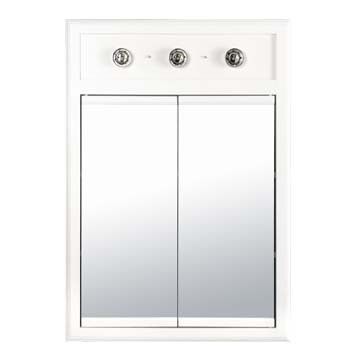 Medicine Cabinet with Lights - Glossy White