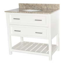 Sorento Contemporary Vanity in White Finish