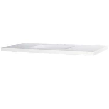 "49"" Wave Bowl Cultured Marble Vanity Top - White, 22"" Depth"