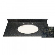 61x22 Butterfly Green Granite Top - Single Bowl