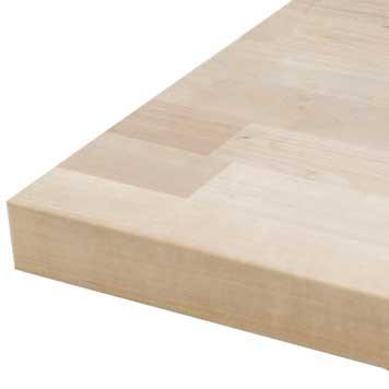 "Butcher Block Countertop 120"" x 25"" x 1.75"" Unfinished Birch"