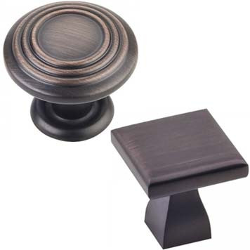 Cabinet Knobs in Brushed Oil Rubbed Bronze Finish