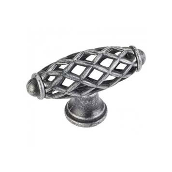 Cabinet Knobs in Distressed Antique Silver Finish