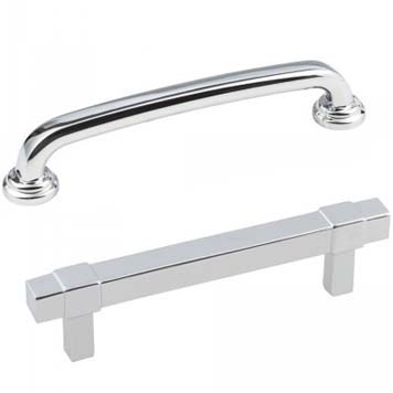 Cabinet Pulls in Polished Chrome Finish