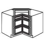 Corner Drawer Base Cabinet AWCDB36-3 - Antique White