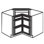 Drawer Base Corner Cabinet - Charleston Coffee Glaze CCGCDB36-3