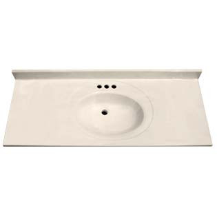 "61"" Single Bowl Cultured Marble Vanity Top - White Swirl on White, 22"" Depth"