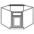 Diagonal Corner Sink Base Cabinet - Shaker Espresso SEDCSB36