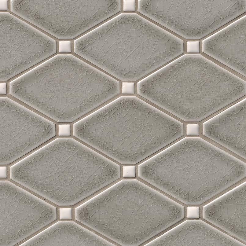 Dove Gray Diamond Mosaic 12x12 Tile