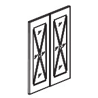 Glass Door Set for 2442 Wall Cabinet - Shaker Gray SGW2442GD