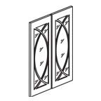 Glass Door Set for 2442 Wall Cabinet - Shaker White SWW2442GD