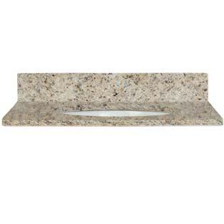 37x22 Giallo Cecilia Granite Top - Single Bowl