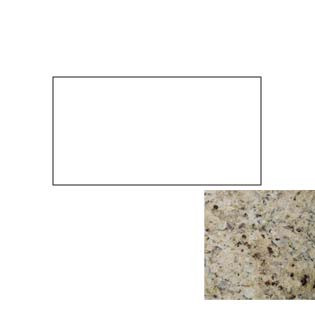 49x22 Giallo Cecilia Granite Top with No Cut Out