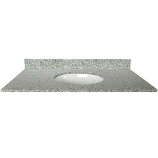37x22 Mission White Granite Top - Single Bowl