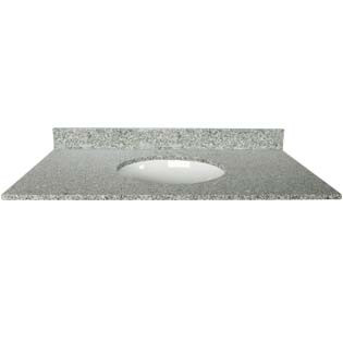43x22 Mission White Granite Top - Single Bowl