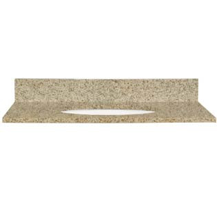 25x22 Speckled Sand Granite Top - Single Bowl