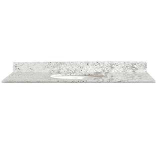 31x22 White Diamond Granite Top - Single Bowl