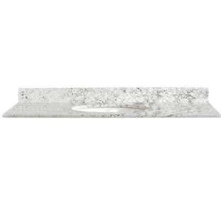 37x22 White Diamond Granite Top - Single Bowl