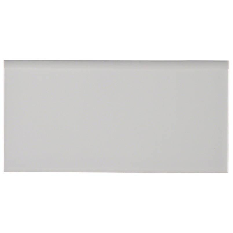 Gray Glossy 3x6 Bullnose Tile