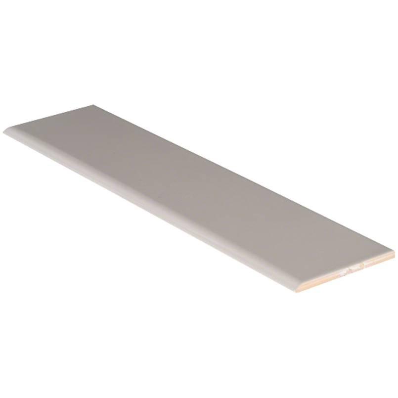 Gray Glossy 4x16 Bullnose Tile