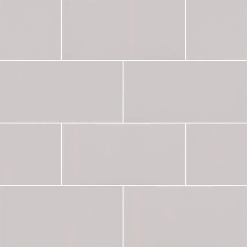 Gray Glossy 3x6 Subway Tile
