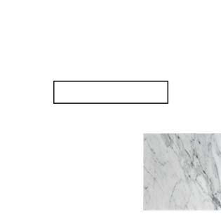 Carrara White Marble Side Splash