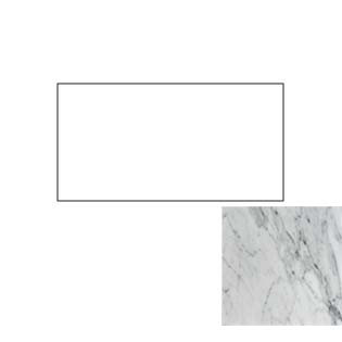 49x22 Carrara White Marble Vanity Top with No Cut Out