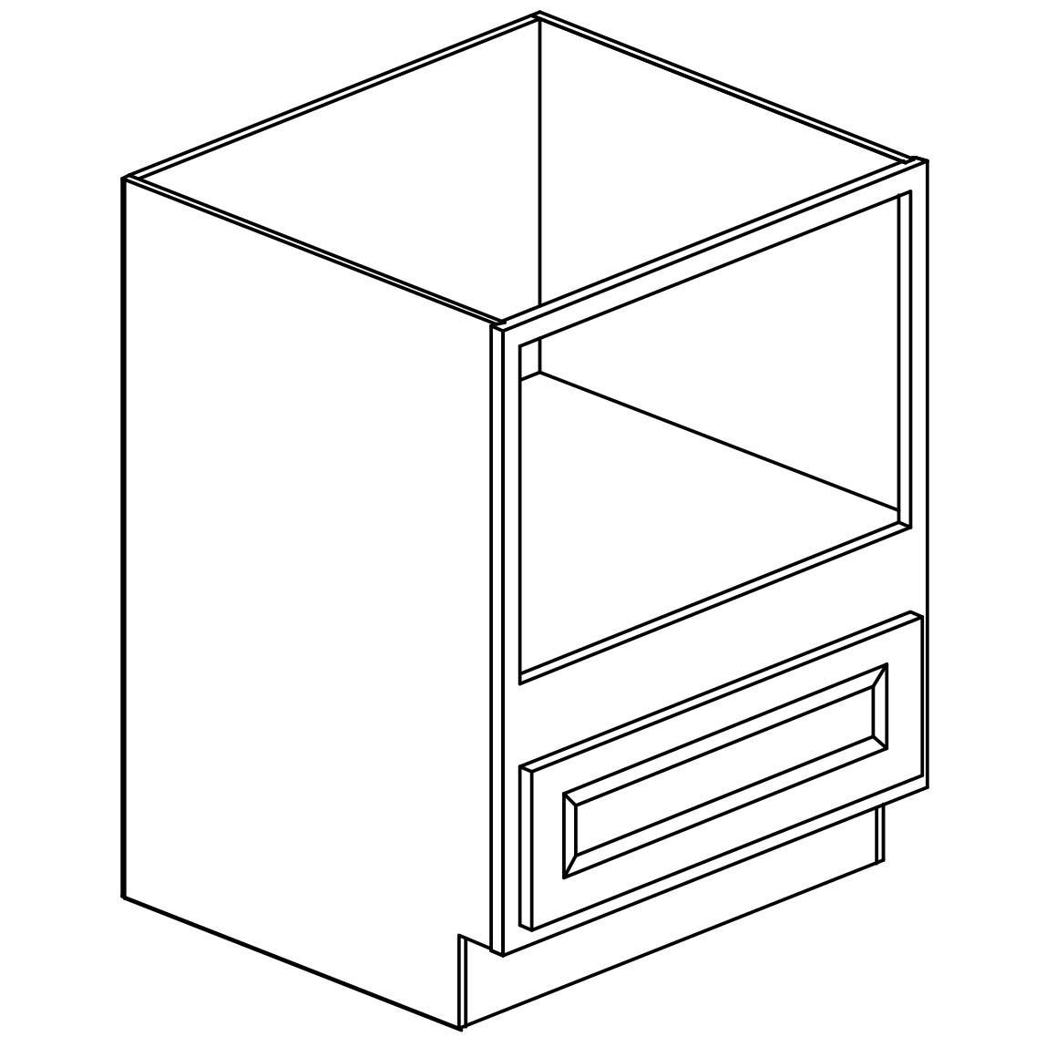 Savannah Harvest Glaze Microwave Base Cabinet