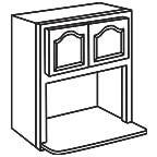 Wall Microwave Cabinet AWMWC3030 - Appalachian Oak