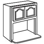 Wall Microwave Cabinet AWMWC3036 - Appalachian Oak