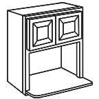 Microwave Wall Cabinet 30 Inch - Charleston Coffee Glaze CCGMWC3030