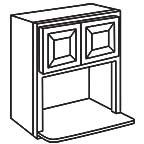 Microwave Wall Cabinet 36 Inch - Charleston Coffee Glaze CCGMWC3036