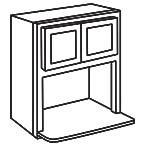 Microwave Wall Cabinet 30 Inch - Shaker Espresso SEMWC3030