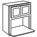 Microwave Wall Cabinet 36 Inch - Shaker Espresso SEMWC3036