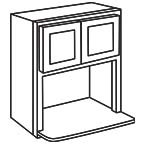 Microwave Wall Cabinet 30 Inch - Shaker Gray SGMWC3030