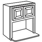 Microwave Wall Cabinet 42 Inch - Savannah Sienna Glaze SSGMWC3042
