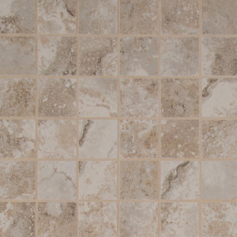 Napa Beige 2 Inch x 2 Inch Ceramic Mosaic Tile