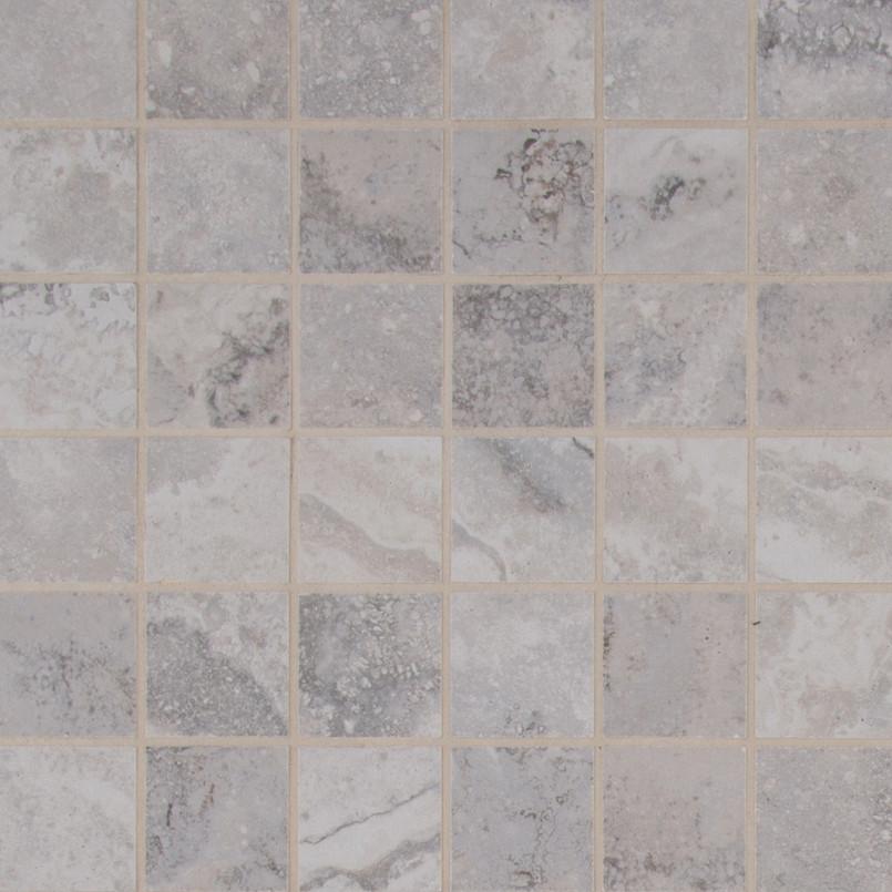 Napa Gray 2 Inch x 2 Inch Ceramic Mosaic Tile