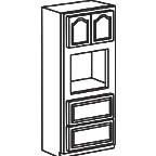 Oven Cabinet 84 Inch AOOC3384 - Appalachian Oak