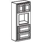 Oven Cabinet 90 Inch - Charleston Coffee Glaze CCGOC3390 S/D