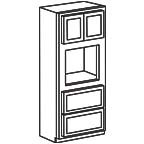 Oven Cabinet 96 Inch - Shaker Gray SGOC3396 S/D