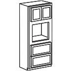 Oven Cabinet 90 Inch - Shaker Gray SGOC3390 S/D