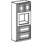 Oven Cabinet 84 Inch - Savannah Sienna Glaze SSGOC3384 S/D