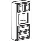 Oven Cabinet 90 Inch - Savannah Sienna Glaze SSGOC3390 S/D