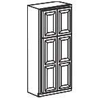 Wide Pantry Cabinet 90 Inch - Charleston Coffee Glaze CCGWP2490